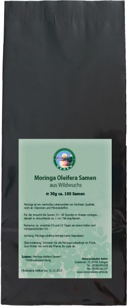 Moringa Samen aus Wildwuchs