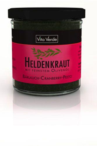 Vita Verde Heldenkraut Bärlauch Cranberry Pesto, BIO