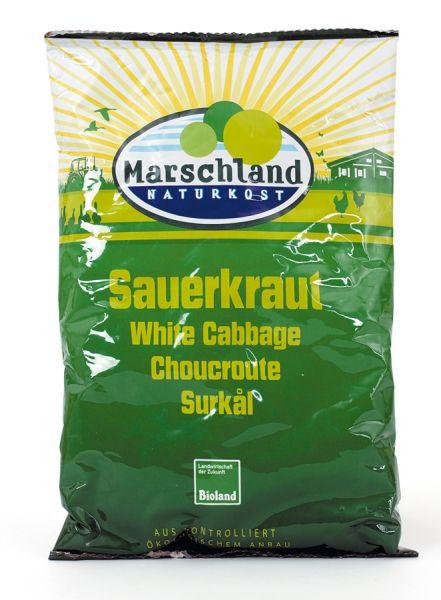 Marschland Sauerkraut Folien-Beutel, BIO