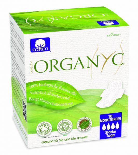 Organyc Damenbinden aus Bio-Baumwolle